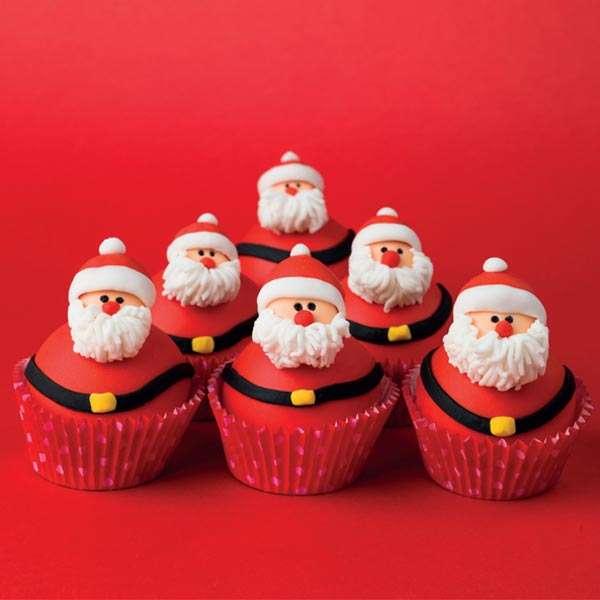 'Santa Cupcakes' Christmas cards