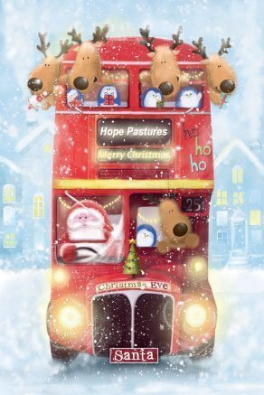 'Christmas Bus' Christmas Cards