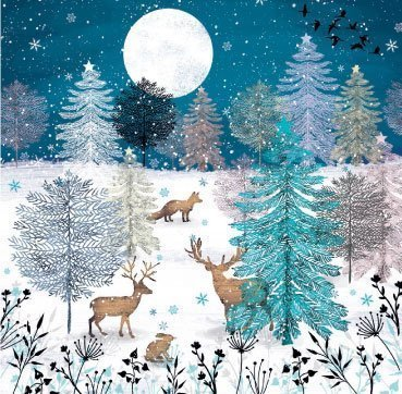 'Nordic Woodland' Christmas Cards